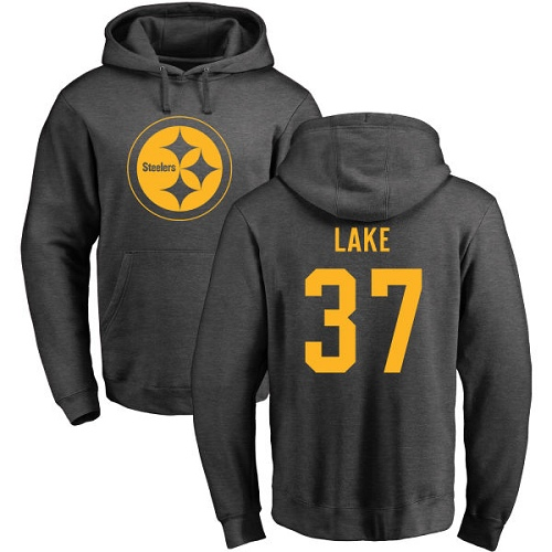 NFL Nike Pittsburgh Steelers #37 Carnell Lake Ash One Color Pullover Hoodie
