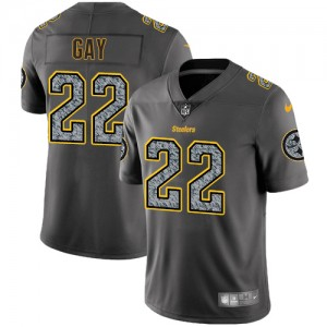 premium selection 7db9b 8a901 Men's Nike Pittsburgh Steelers #22 William Gay Gray Static ...